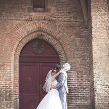Couple à la sortie de la cathédrale