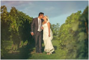 Mariage dans les vignes.