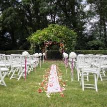 cérémonie laique et boules de roses