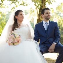 Cérémonie Mariage Couple Assis