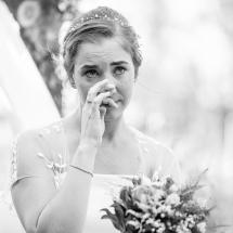 Cérémonie Mariage Femme émue